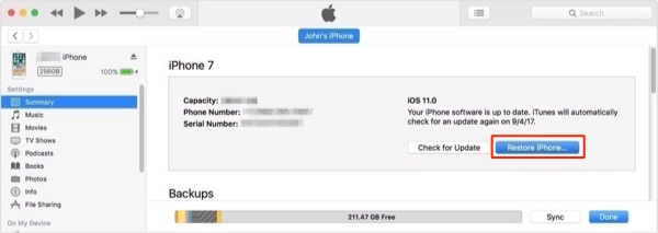 What to Do if I Forgot My iPhone/iPad Password – Restore Device with iTunes
