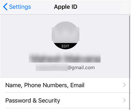 Recover iCloud Email from the iPhone