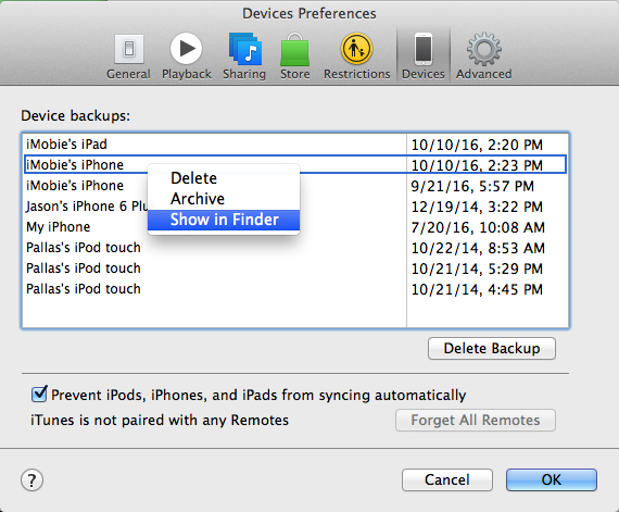 how to change iphone backup location find itunes backup location in windows 10 8 7 os x 18624