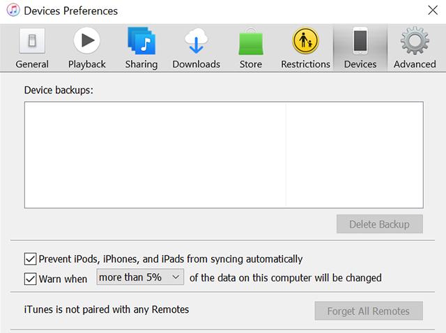Prevent iTunes auto-sync