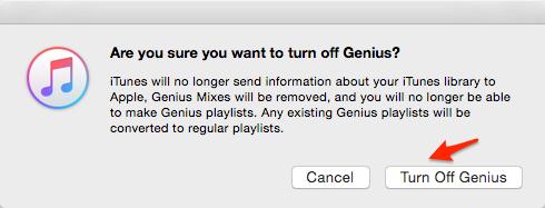 How to Speed up iTunes – Turn Off Genius
