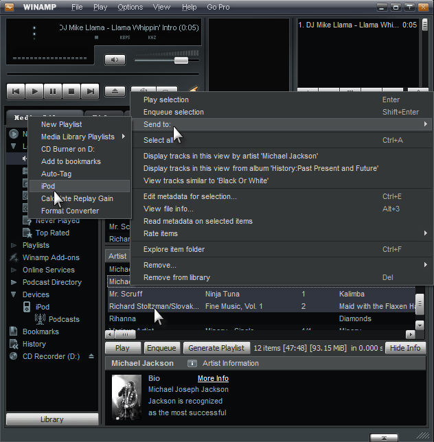 Winamp Alternative for iPod