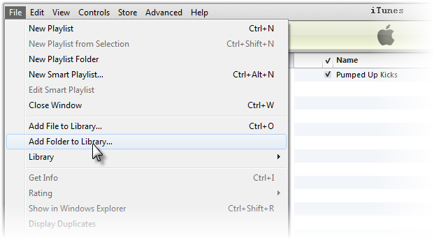 Import Windows Media Player Music to iTunes Step 1