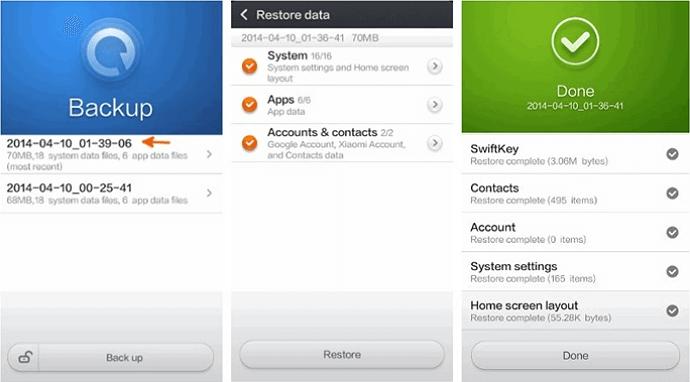 Xiaomi Backup App