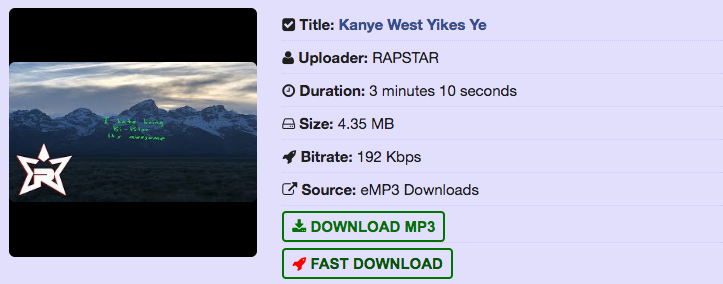 Yikes Kanye West Free Download