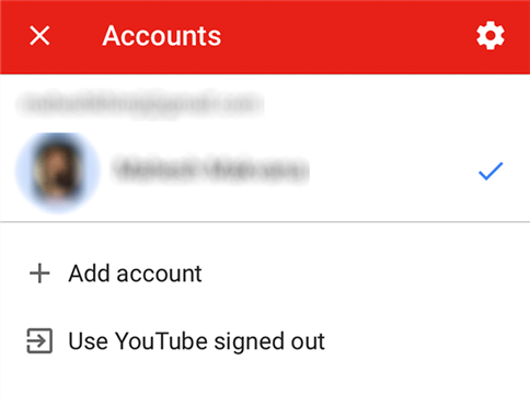 Log out and in in the YouTube app on your device