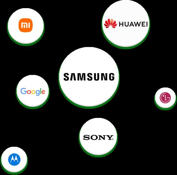 20,000+ modelos de teléfonos y tabletas Android soportados