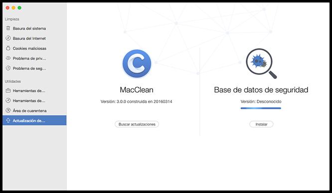 Instale Actualización de MacClean y actualización de software