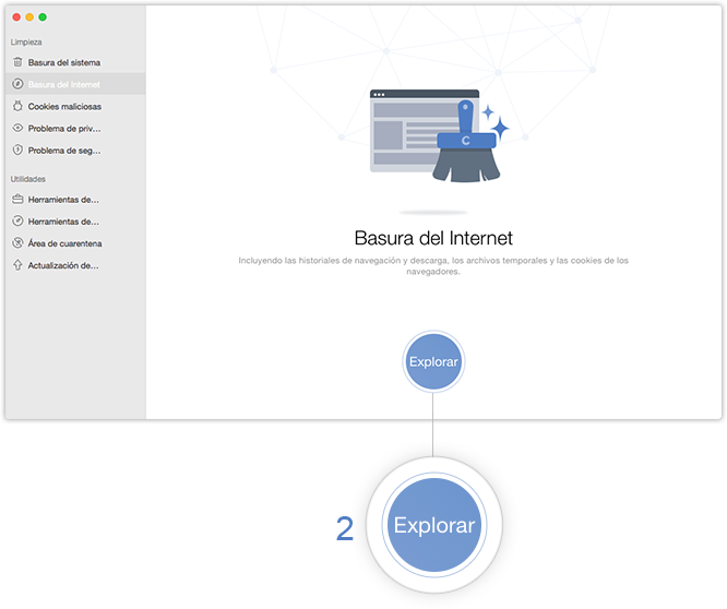 Explore basura del Internet