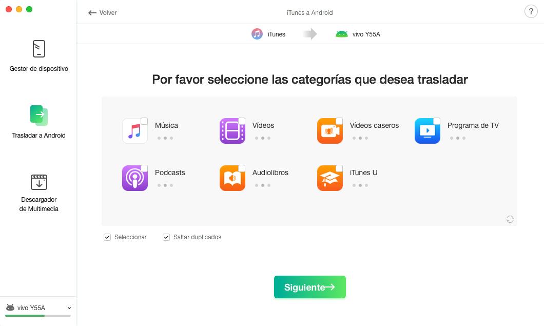 Biblioteca de iTunes a Android - 3