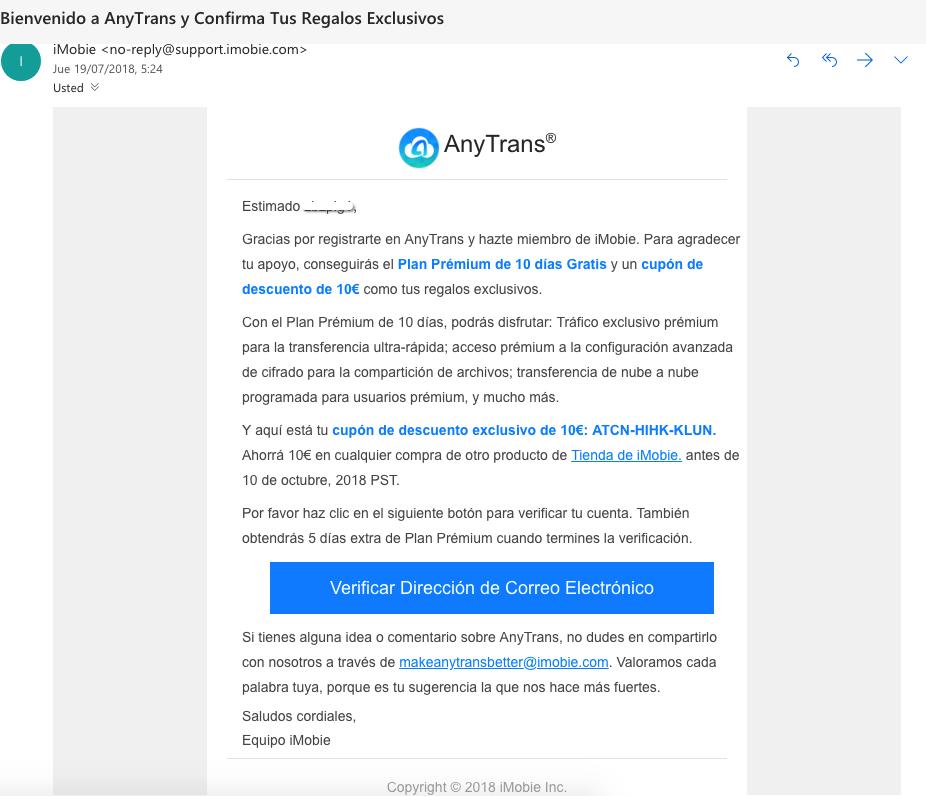Confirmar tu correo electrónico