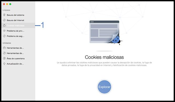 Seleccione la función cookies maliciosas