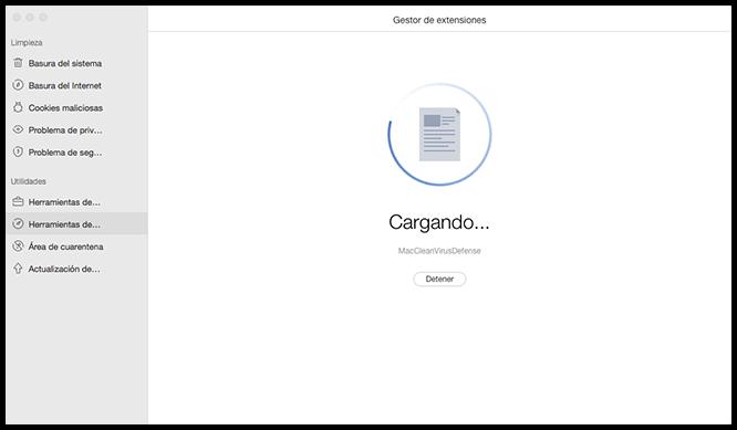 Explore extensiones en Mac