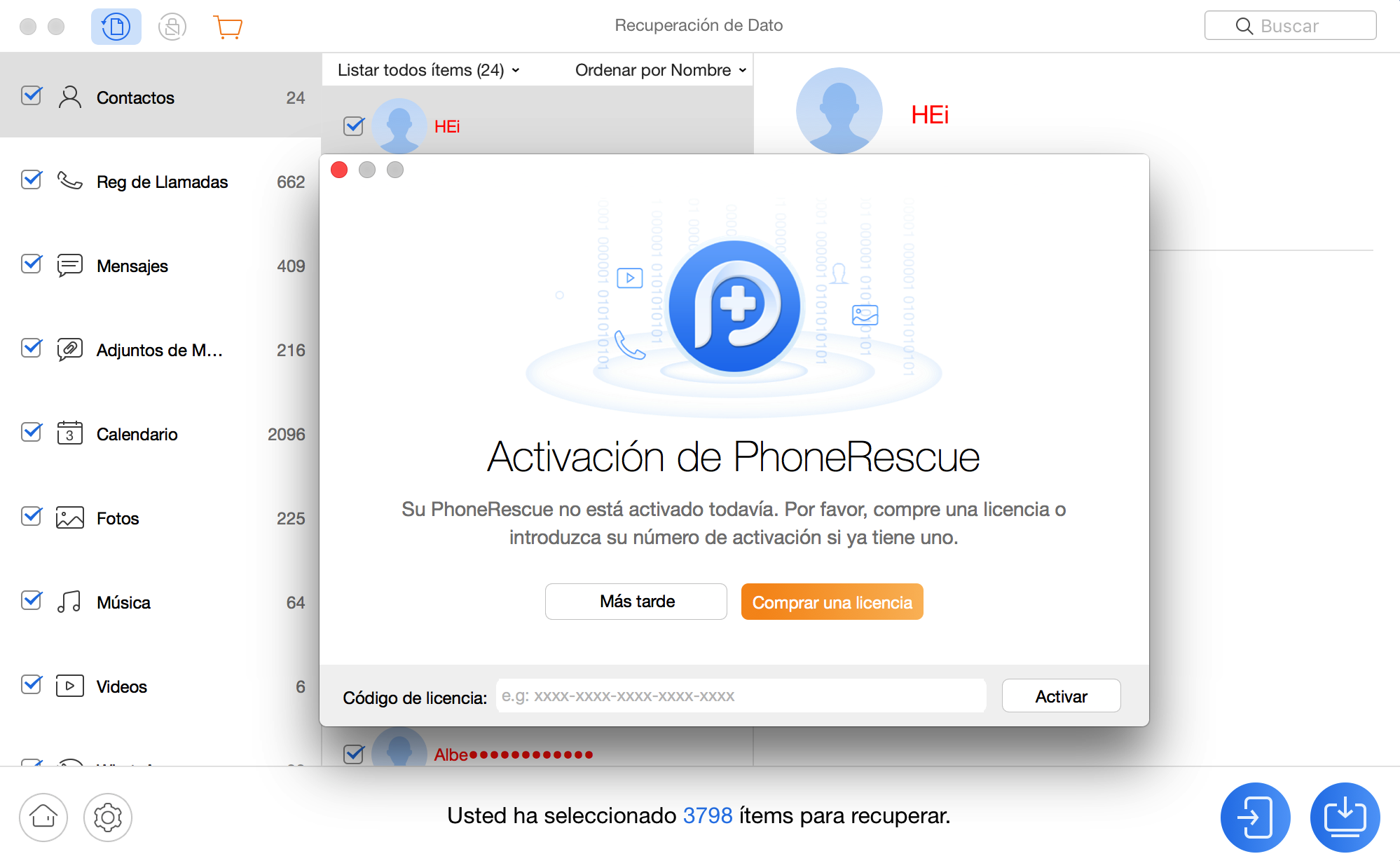 Registering PhoneRescue for HTC