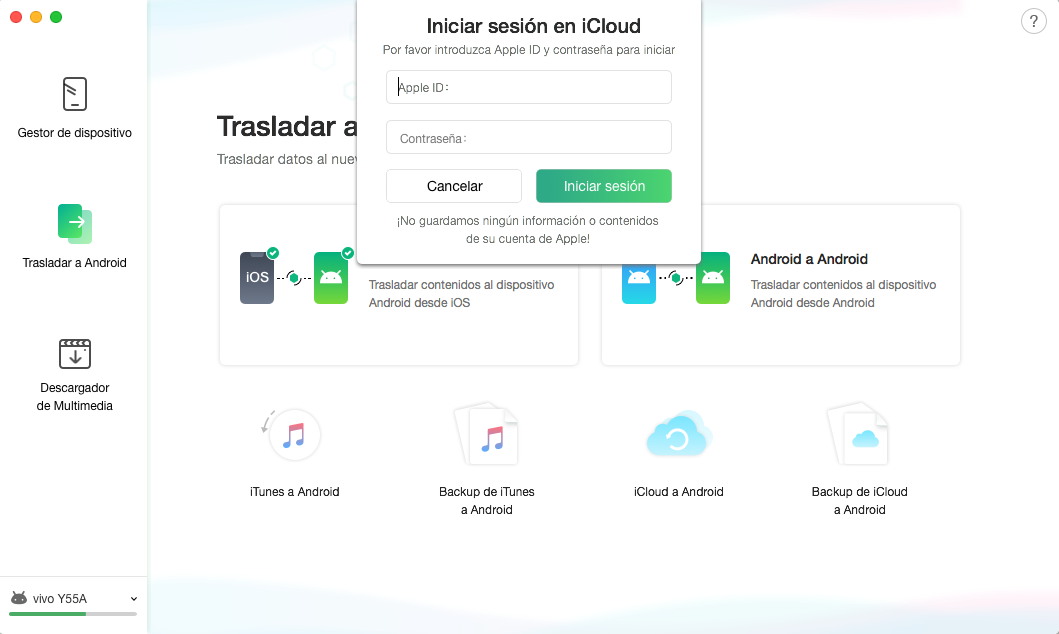 iCloud a Android - 3