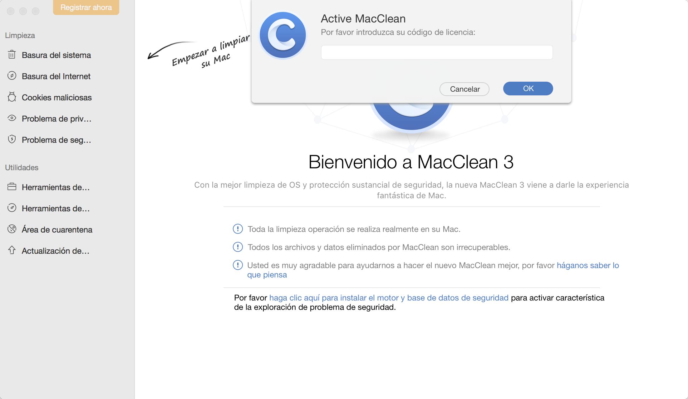 Activación MacClean
