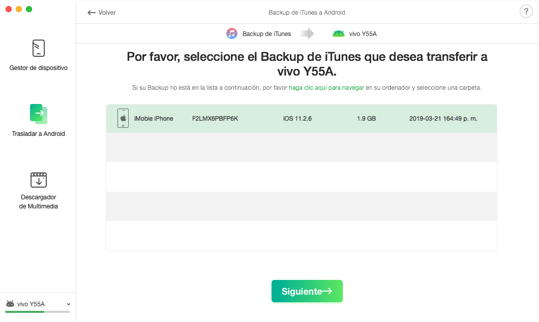 iTunes Backup a Android - 3