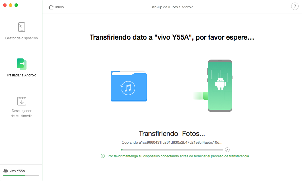 iTunes Backup a Android - 4