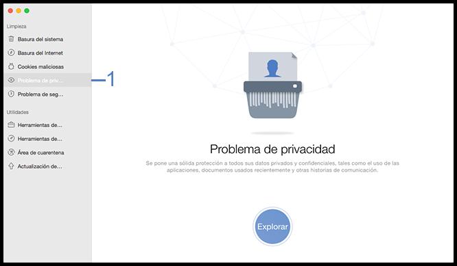 Seleccione la función Problema de privacidad