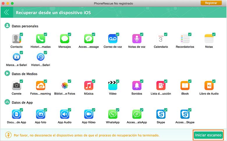 Recuperación de Datos de iPhone – Recuperar desde dispositivo iOS 2