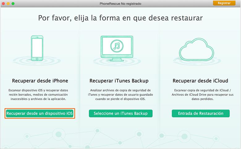 Recuperación de Datos de iPhone - Dos modos de recuperación 1