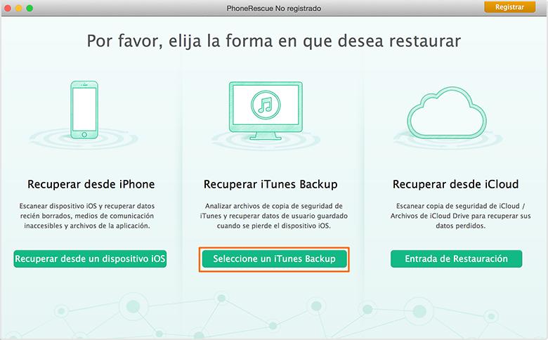 Recuperación de Datos de iPhone - Dos modos de recuperación 2