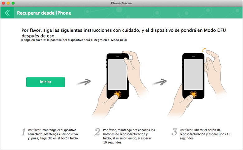 Recuperación de Datos de iPhone - Dos modos de recuperación 4