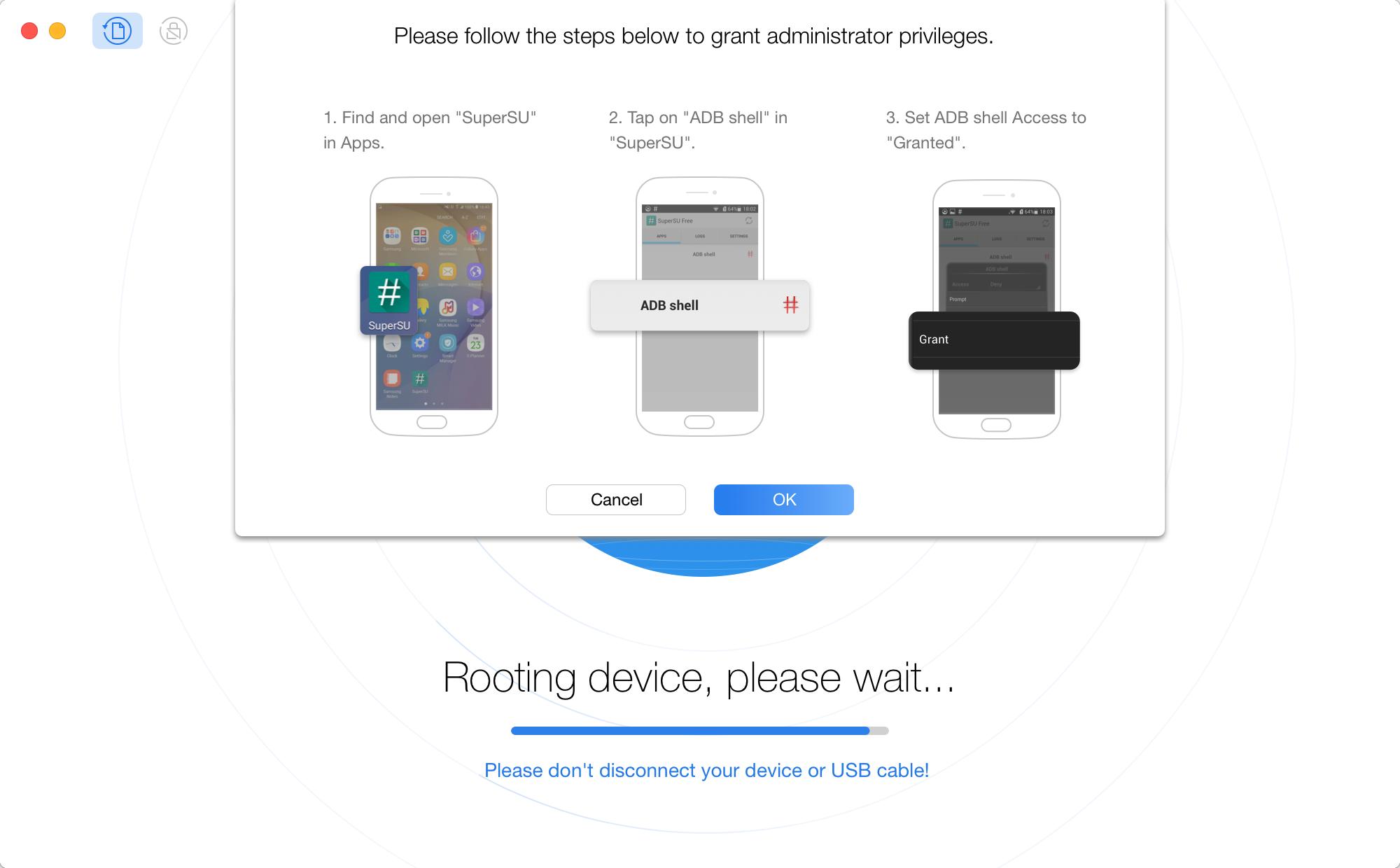 Acquire the permission of Super Administrator User