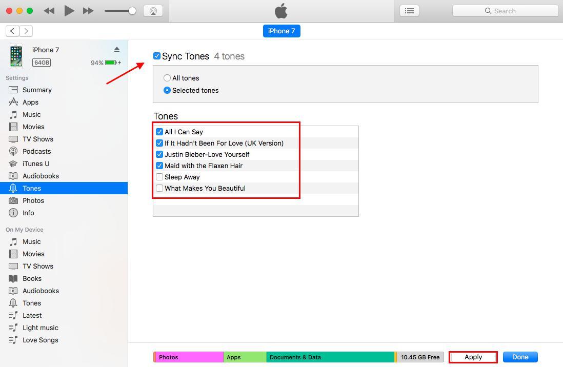 Cómo añadir tono iPhone con iTunes