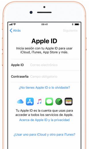 Inicia sesión con la ID de Apple
