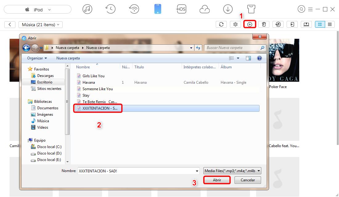 Cómo meterle música a un iPod sin iTunes - paso 3