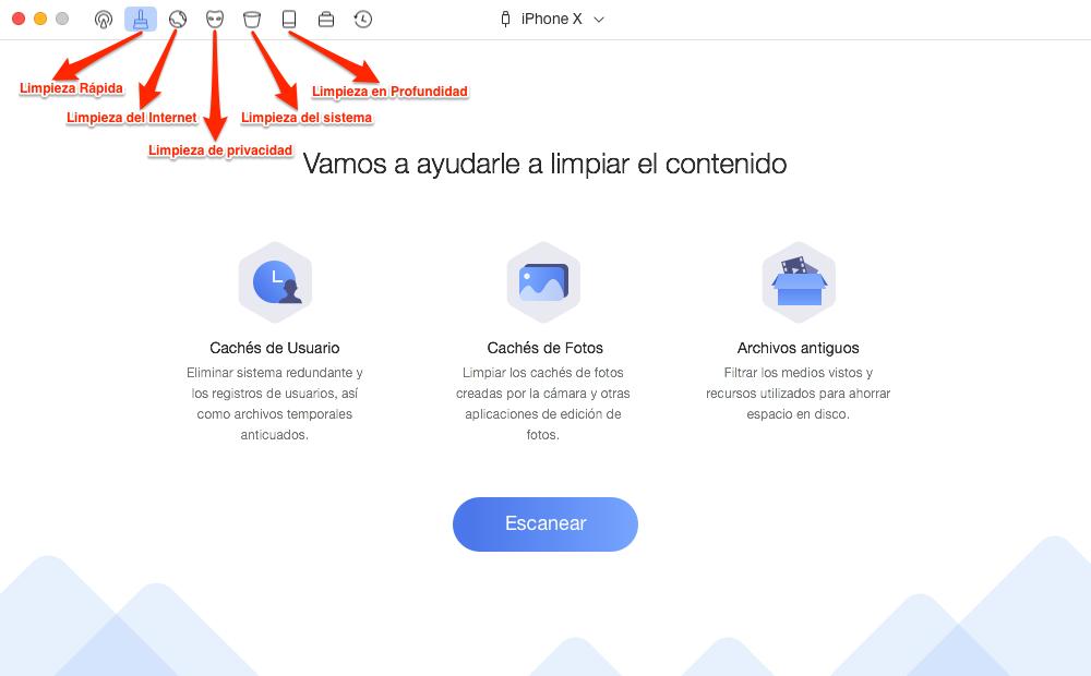 Limpia tu dispositivo iOS con PhoneClean