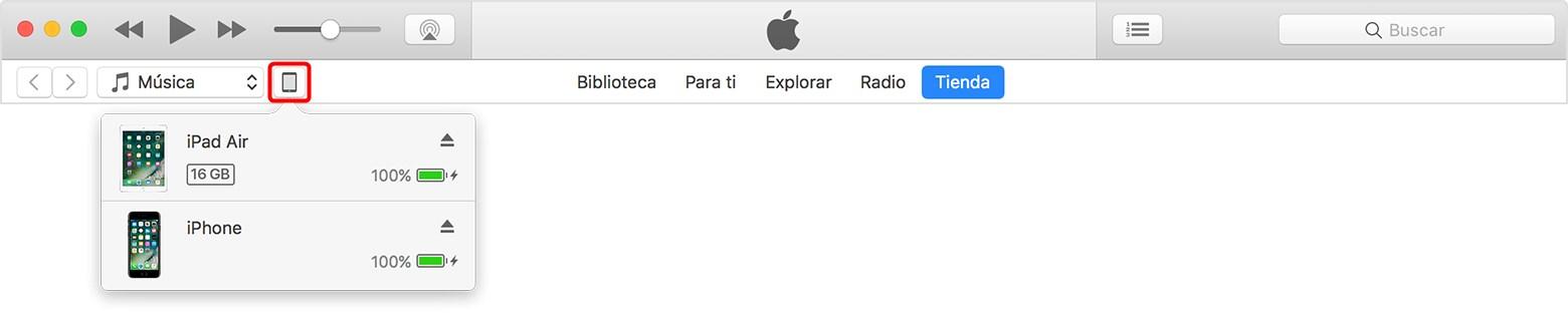 Conectar por iTunes en ordenador