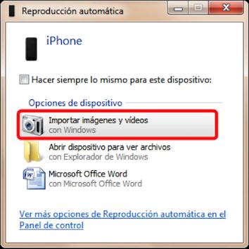 Transfiere archivos de PC al iPhone