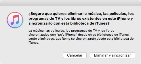 Cómo pasar música de Mac a iPhone con iTunes