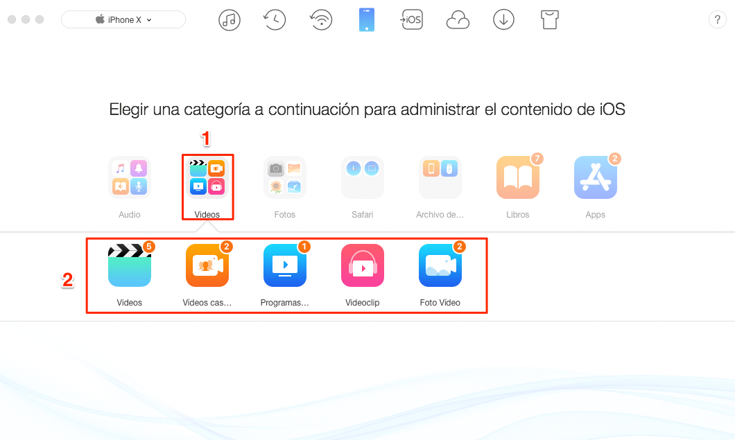 Cómo pasar videos a iPhone sin iTunes - paso 2