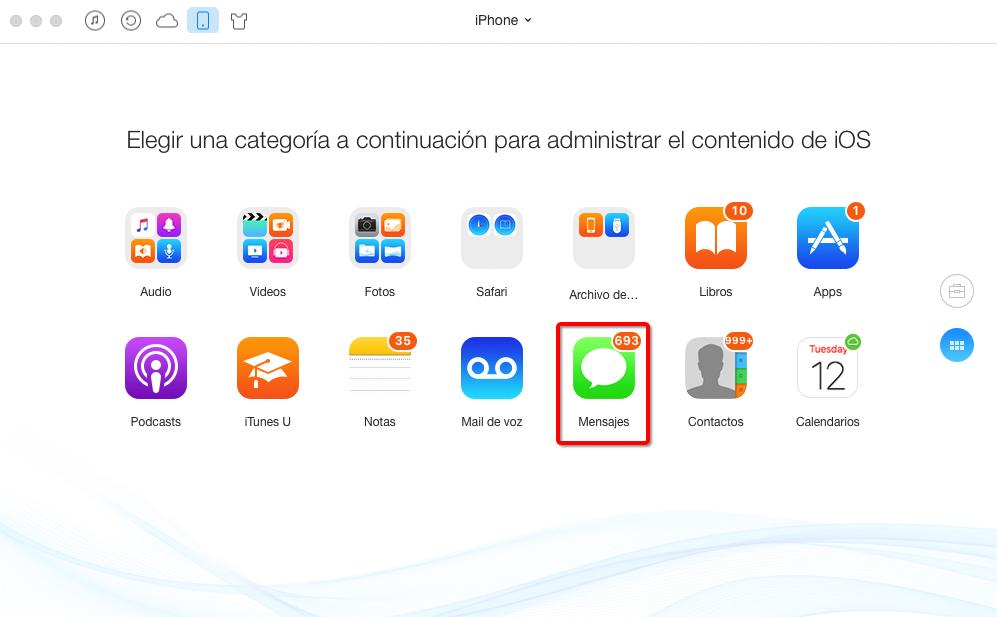 Gestionar mensajes de iPhone por AnjyTrans para iOS