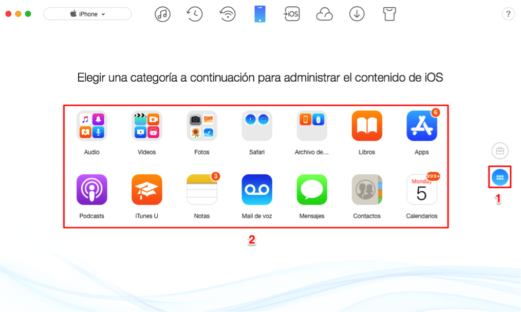 Realizar copia de seguridad con AnTrans para iOS antes de vender iPhone antiguo