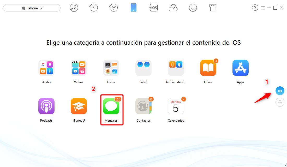 Cómo realizar una copia de seguridad de mensajes de texto en el iPhone - paso 2