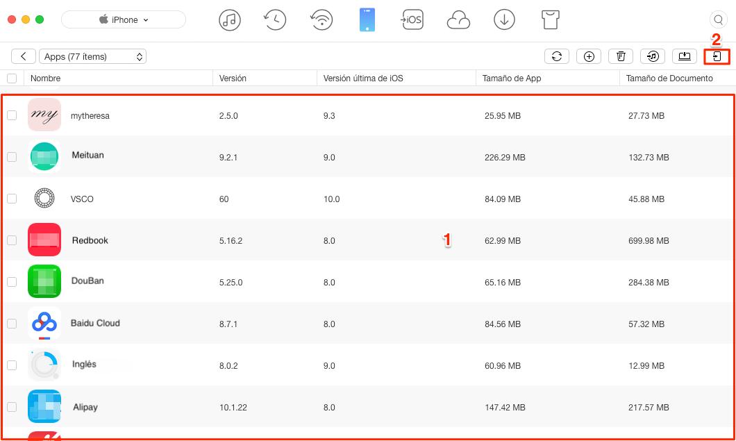 Copia de seguridad & Transferir el proceso de Minion Rush entre dispositivos iOS - Paso 3