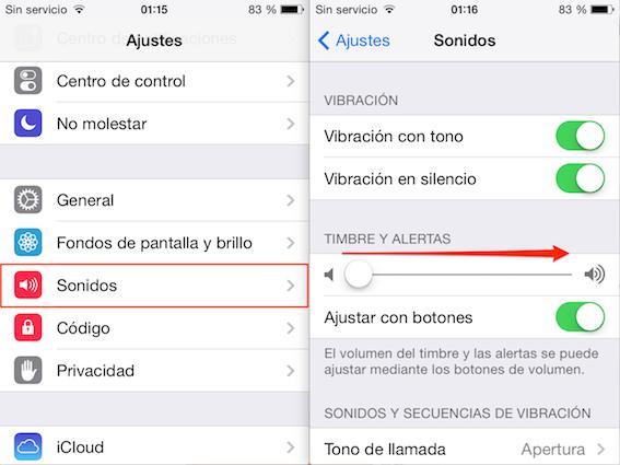 Alarma iPhone/ iPad no suena