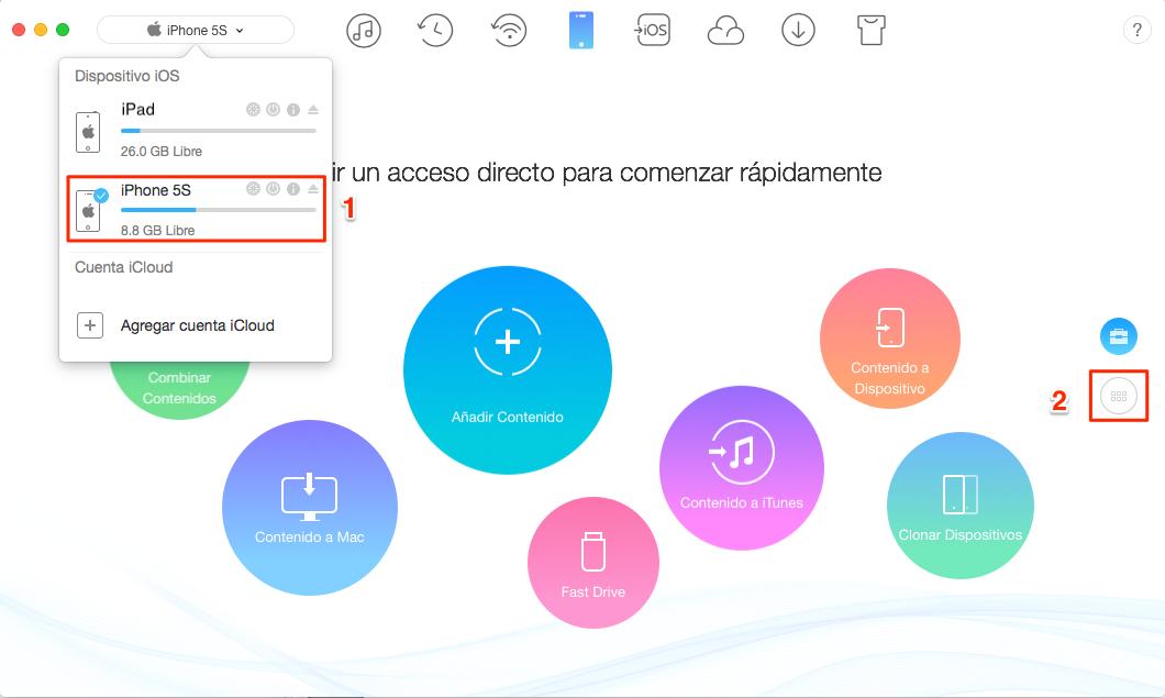 Cómo transferir fotos desde el iPhone al iPad - Paso 1