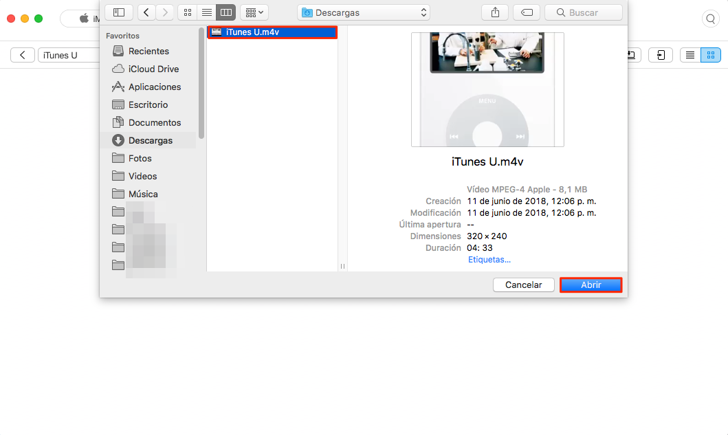 Cómo transferir iTunes U desde PC para iPhone - Paso 2