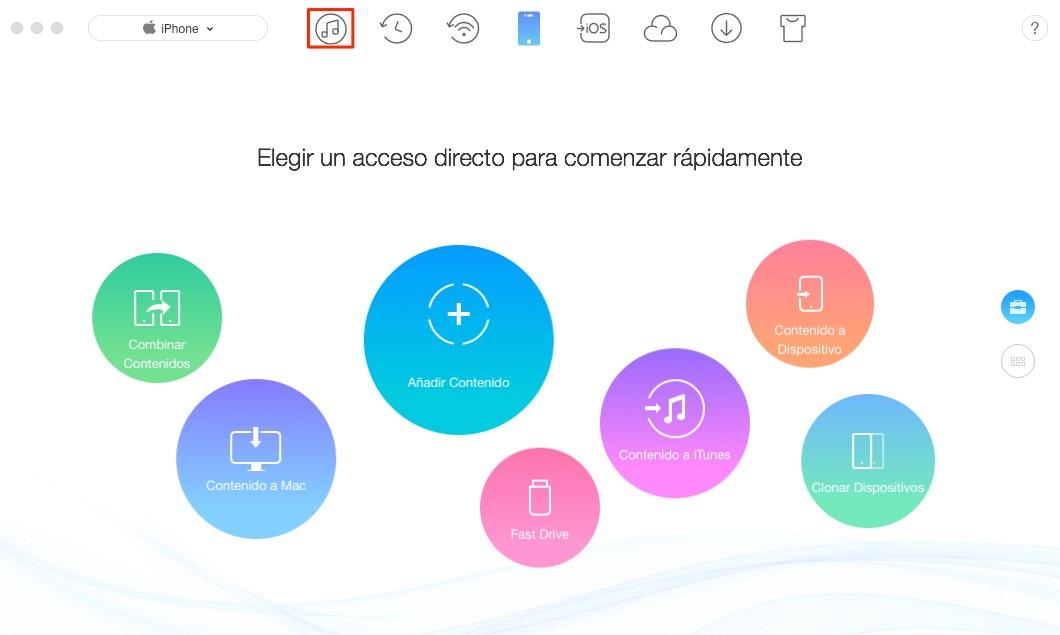 Transferir lista de reproducción de iTunes para iPhone - Paso 1