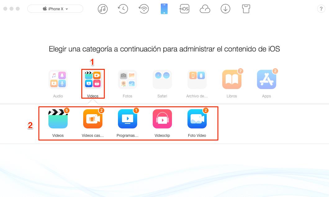 Cómo transferir vídeos desde el ordenador al iPhone - Paso 2