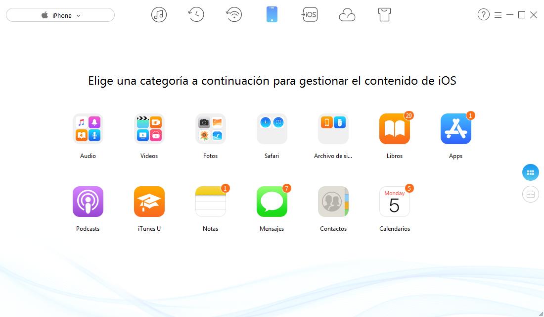 Hacer copia de seguridad de iPhone con AnyTrans