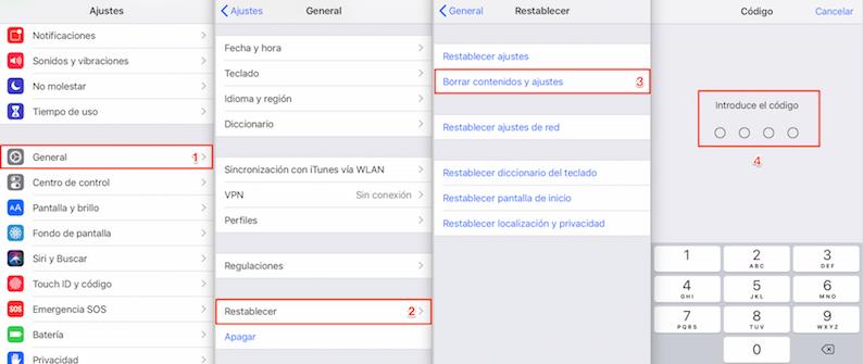 Recuperar datos perdidos al actualizar iOS con iCloud
