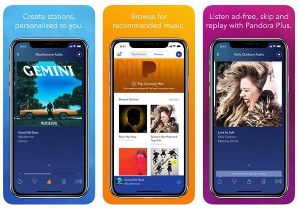 Top 5 aplicaciones para escuchar música sin internet iPhone - Pandora Radio