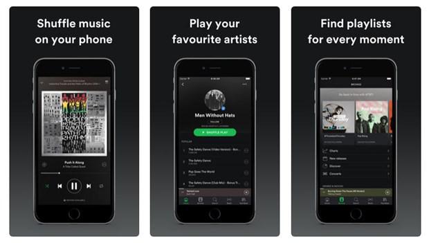 Top 5 aplicaciones para escuchar música sin internet iPhone - Spotify