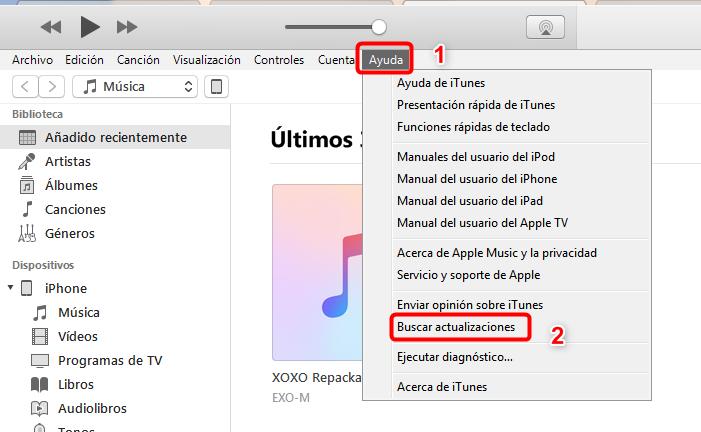 Arreglar el error 26 de iTunes - Actualizar iTunes